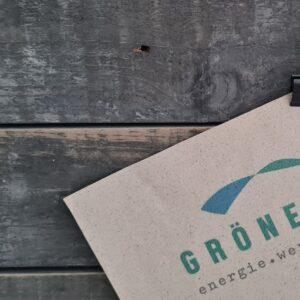 GRÖNEVEJ Graspapier Logo der ecoagentur.de